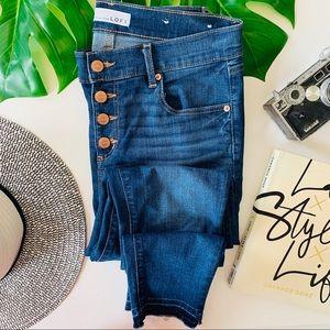 NWOT Loft Raw Hem Modern Skinny Ankle Jeans 6P